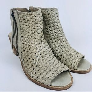 Sam Edelman Cooper Woven Leather Peep Toe Sandal